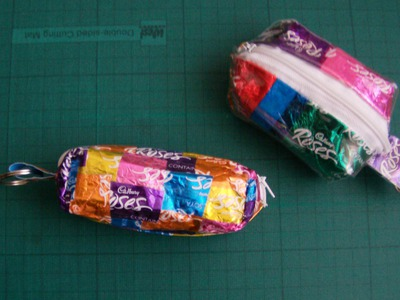 Tutorial: Candy Wrapper Coin Purse (No-Sew)