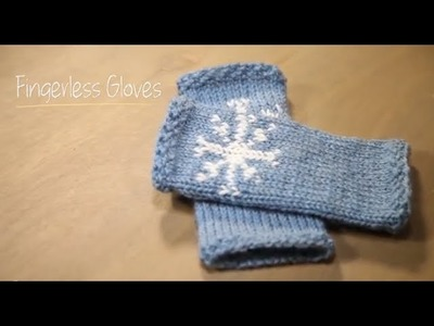 1 Hour Project: Fingerless Snowflake Gloves with Stefanie Japel
