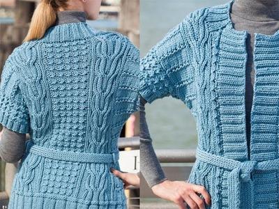 #20 Belted Tunic Cardi, Vogue Knitting Winter 2010.11
