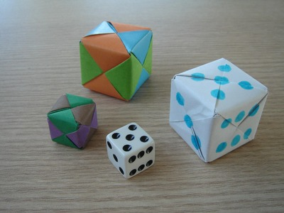 3d origami - SONOBE CUBE - how to make instructions