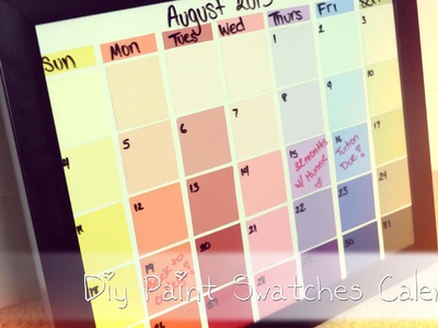 Back-To-School: DIY Paint Swatches Calendar