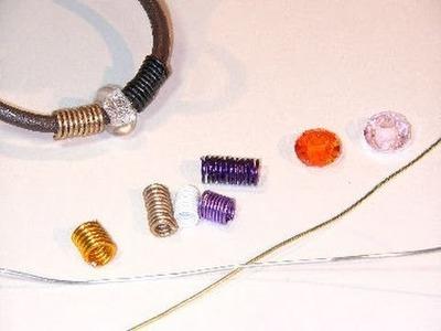 Beading Ideas - Spring beads using aluminium wire