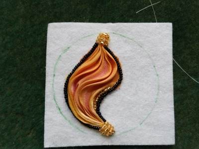 Beading4perfectionists: Shibori silk embroidery earrings part 1