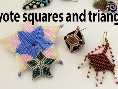 BeadsFriends: Samples of squares and triangles from my creations