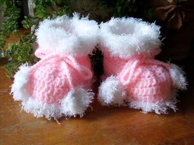 Crochet baby booties  new - creative ideas!