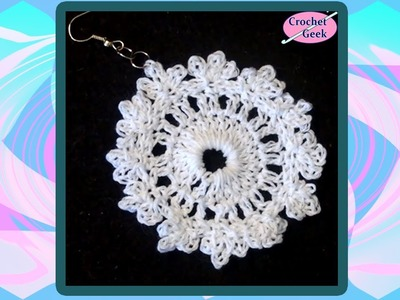 Crochet Earring Fern Crochet Geek