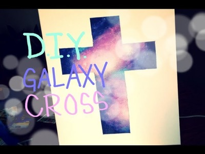 D.I.Y Galaxy Cross Painting