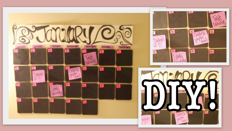 DIY: Coaster Calendar! | Home Decor #Roomspiration
