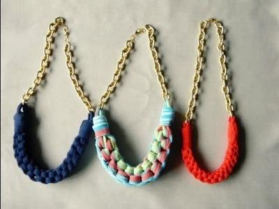 DIY collar con tela