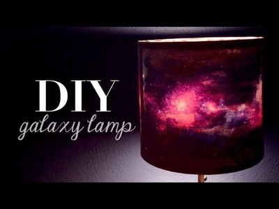 DIY Galaxy Print Lamp | Home Decor