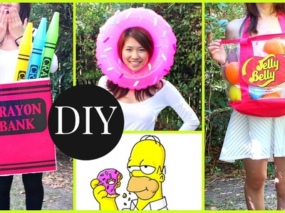 DIY Halloween Costumes Under $10! (Donut, Crayon, Jelly Belly)
