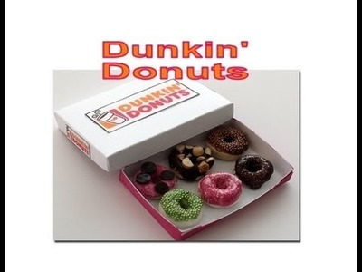 DIY: How To Make Dunkin' Donuts With Polymer Clay