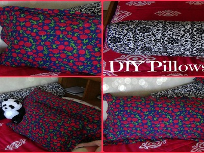 DIY Pillows! Body Pillow, Small Pillow, and Long Round Pillow ♥