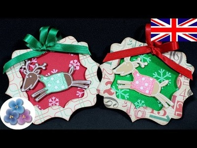 DIY Reindeer Christmas Ornaments Scrapbook Xmas Decorations Papercrafts & craft Mathie
