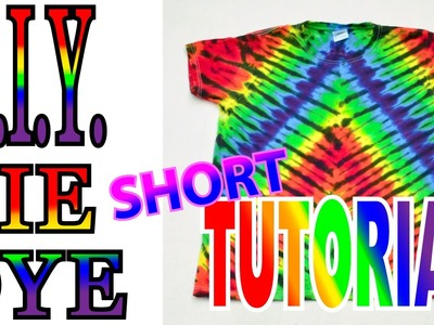 DIY Tie Dye Symmetrical Fan Fold Design [Short Tutorial]