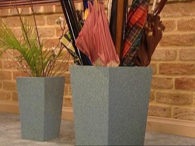 DIY Umbrella Stand and Matching Planter Box