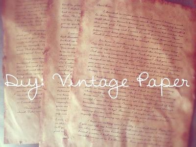 DIY: Vintage Paper