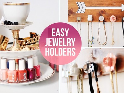 ♡ Easy DIY Jewelry.Accessory Organizers | LaurDIY
