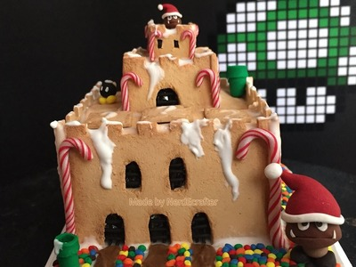 EPIC DIY Super Mario Castle Gingerbread House Polymer Clay Tutorial. Arcilla Polimérica