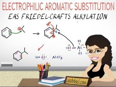 Friedel-Crafts Alkylation Reaction Mechanism EAS Vid 6 by Leah4sci
