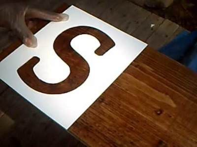 Guinness World Record Board Game Part 3: Stenciling Letters