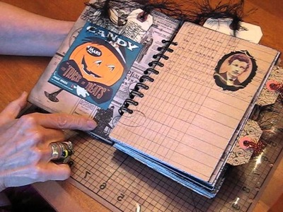 Halloween Scrapbook Journal with 31 bits and pieces
