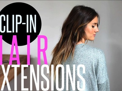 How-To Hair Extensions Easy DIY. 60 second Hair Tutorial