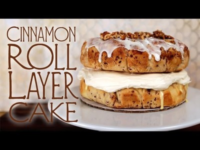 How to Make Cinnamon Roll Layer Cake | Eat the Trend