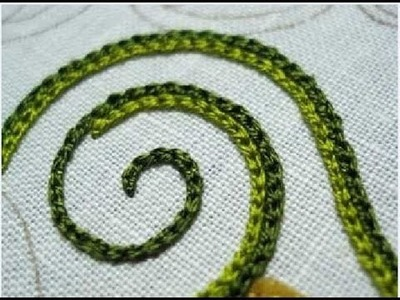 How to Make Hand Embroidery Stitches - Chain Stitch - Tutorial .