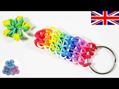 How to make Key Chains Cool Keychains with Rainbow Loom DIY Charms Rubber Bands Mathie