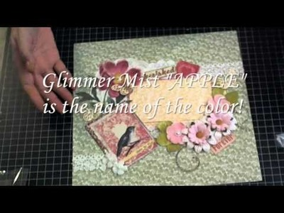 Justafew - Scrapbooking 12x12 layout with flowers