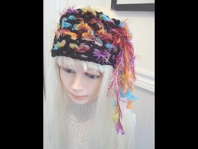MAKE A CROCHET HEADBAND, Easy Bohemian Style.