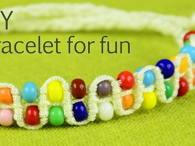 Make Beaded Bracelet for Fun - Tutorial