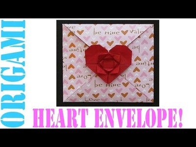 Origami Daily - 158: Heart & Flower Envelope (Valentine's Day) - TCGames [HD]