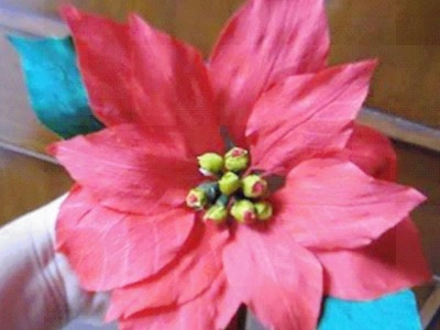 Paper flower - Poinsettia. Christmas Star