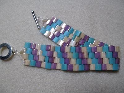 Peyote Stitch with Tila Beads