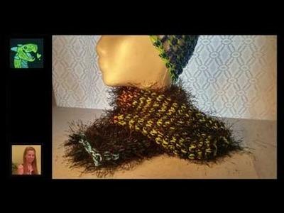 Rainbow Loom - Knitted Scarf - Rainbow loom Rubber Bands and Yarn!
