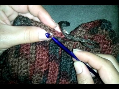 Tutorial: Back Loop Crochet front loop crochet