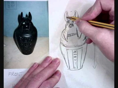 A lesson in drawing a canopic jar to scale.wmv