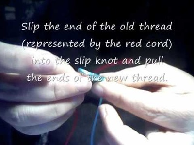 Add a thread using a slip knot.wmv