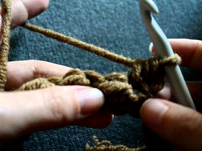 Basic Crochet Lessons - How to make the Moss Stitch - Part 1