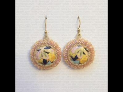 BeadsFriends: Beaded bezel earrings - My Plastic Cabochon Earrings | Beaded Jewelry