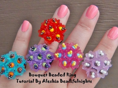 Bouquet Beaded Ring Tutorial