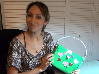 Craft a Purse From Foam Sheets #2 (Spanish)