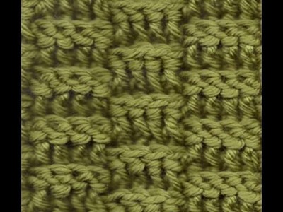 Crochet Basketweave Rows Left Hand  - Square or Scarf Crochet Geek
