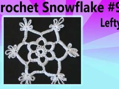 Crochet Snowflake Shakuntala Christmas - Left Hand Version Crochet Geek