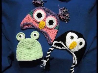 Crocheted children's hats