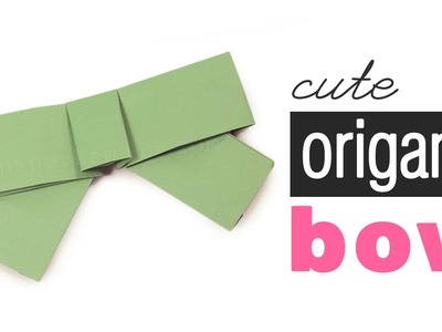 Cute Origami Bow Tutorial (No Cutting)