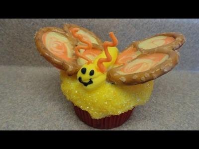 Decorating Cupcakes #40: Pretty Pretzel Butterflies