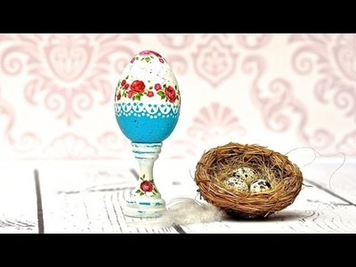 Decoupage easter egg - tutorial DIY